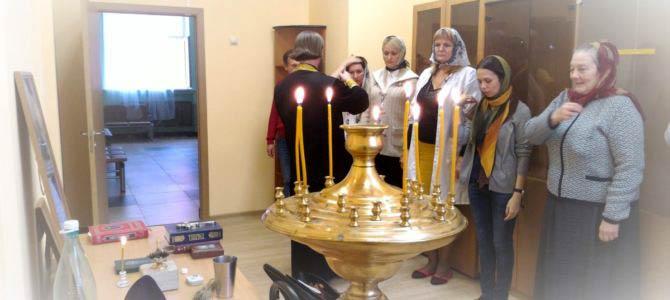 Молебен в детском интернате