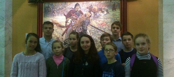 Дети посетили выставку Павла Рыженко
