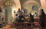 Зворыкин Б. Архимандрит Дионисий и келарь Авраамий Палицын диктуют воззвание к народу