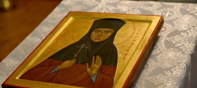 Освящена икона св. прпмц. Гермогены (Кадомцевой)