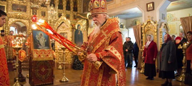 Епископ Пантелеимон отслужил Пасхальную вечерню