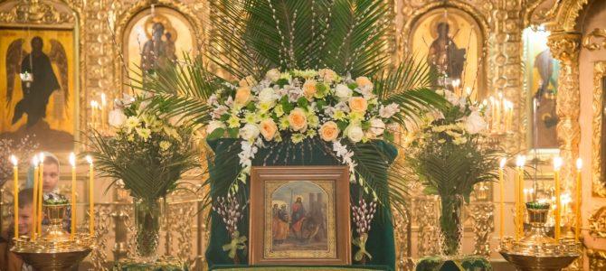 Вербное воскресенье, освящение ваий